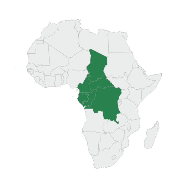 regional map central africa