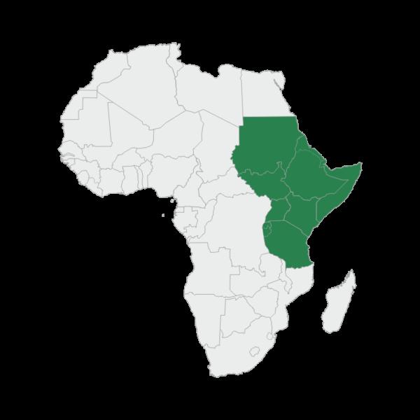 regional map east africa