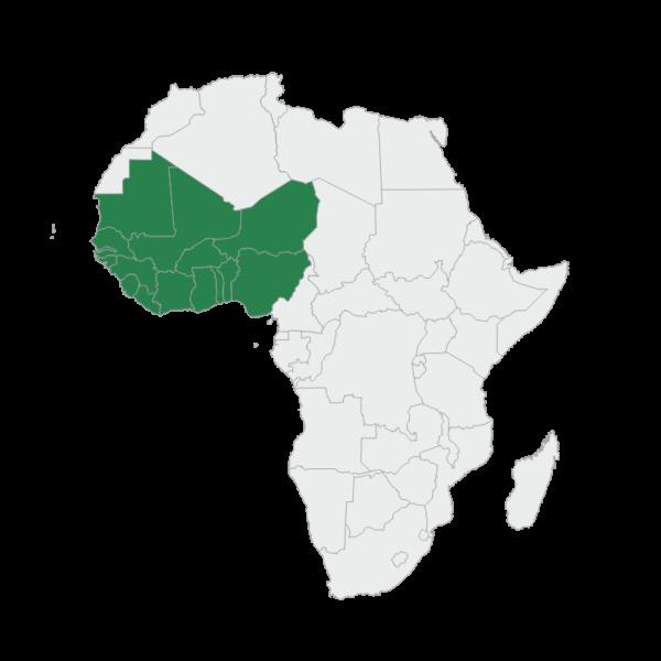 regional map west africa
